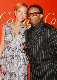 Spike Lee and Tonya at The Cartier Mansion for a cocktail party in celebration of The Cartier Charity Love Bracelet.