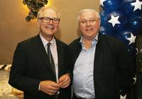 Barry Levinson and James G. Robinson at the Hollywood Roosevelt Hotel for the afterparty at the premiere of Universals