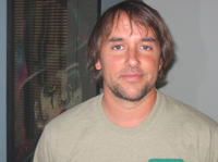 Director/producer/screenwriter Richard Linklater on the set of