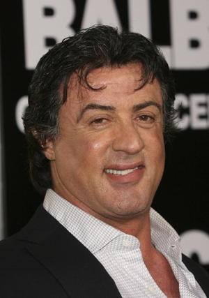 """""""Rocky Balboa"""" star Sylvester Stallone at the premiere in Hollywood."""
