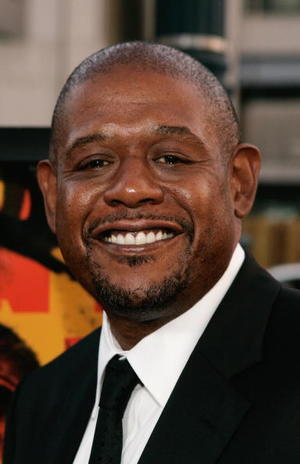 """""""The Last King of Scotland"""" star Forest Whitaker at the Beverly Hills premiere."""