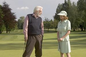 """Donald Sutherland and Diane Lane in """"Fierce People."""""""