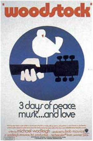 "Poster art for ""Woodstock."""