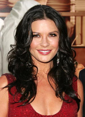 """No Reservations"" star Catherine Zeta-Jones at the N.Y. premiere."