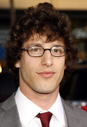 """""""Hot Rod"""" star Andy Samberg at the L.A. premiere."""