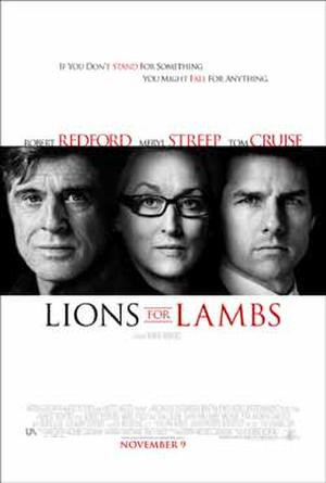 """""""Lions for Lambs"""" poster art."""