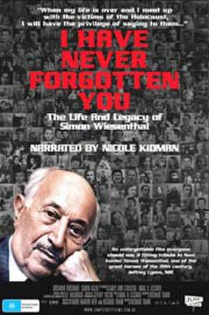 """Poster art for """"I Have Never Forgotten You: The Life & Legacy of Wiesenthal."""""""