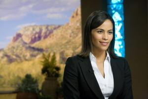 "Paula Patton in ""Swing Vote."""