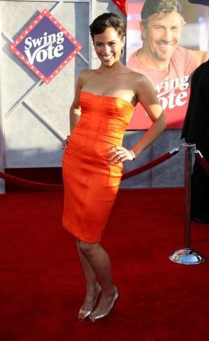 """Paula Patton at the California premiere of """"Swing Vote."""""""