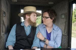 "Seth Green as Ezekial and Clark Duke as Lance in ""Sex Drive."""
