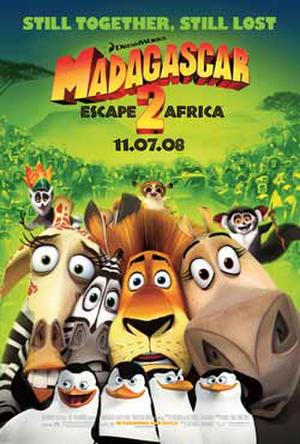 "Poster art for ""Madagascar: Escape 2 Africa."""