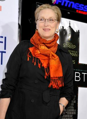 """Meryl Streep at the California premiere of """"Doubt."""""""
