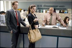 "Ryan Reynolds and Sandra Bullock in ""The Proposal."""