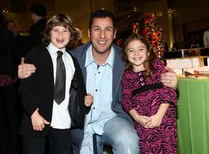 """Jonathan Heit, Adam Sandler and Laura Ann Kesling at the after party of the California premiere of """"Bedtime Stories."""""""