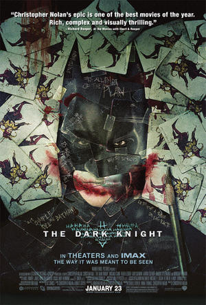 """Poster art for """"The Dark Knight: The IMAX Experience."""""""