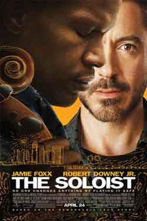 "Poster art for ""The Soloist."""