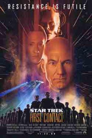 """Poster art for """"Star Trek: First Contact."""""""