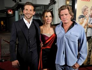 "Bradley Cooper, Sandra Bullock and Thomas Haden Church at the California premiere of ""All About Steve."""