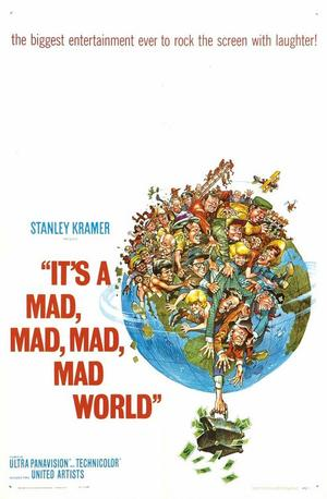 "Poster art for ""It's a Mad, Mad, Mad, Mad World."""