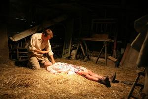 """Patrick Fabian as Cotton Marcus and Ashley Bell as Nell Sweetzer in """"The Last Exorcism."""""""