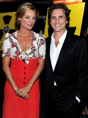 """Director Lucy Walker and producer Lawrence Bender at the California premiere of """"Countdown to Zero."""""""