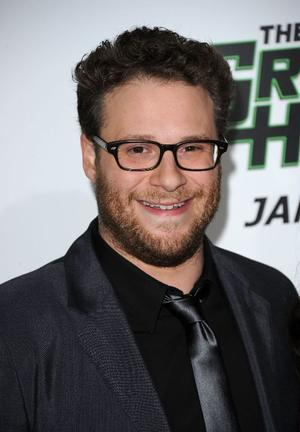 """Seth Rogen at the California premiere of """"The Green Hornet."""""""