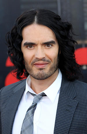 """Russell Brand at the London premiere of """"Arthur."""""""