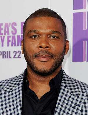 """Tyler Perry at the California screening of """"Tyler Perry's Madea's Big Happy Family."""""""