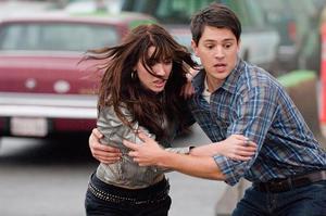 "Jacqueline MacInnes-Wood as Olivia Castle and Nicholas D'Agosto as Sam in ""Final Destination 5."""