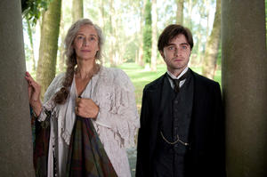 "Janet McTeer and Daniel Radcliffe in ""The Woman in Black."""