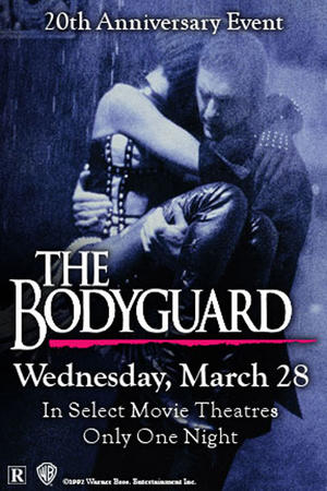 """Poster art for """"The Bodyguard: 20th Anniversary Event."""""""