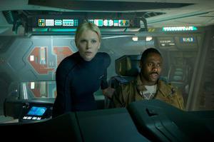 "Charlize Theron and Idris Elba in ""Prometheus."""