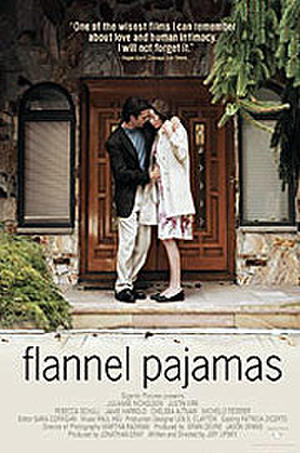"Poster art for ""Flannel Pajamas."""