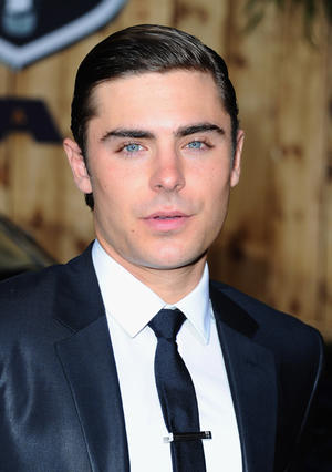 "Zac Efron at the California premiere of ""The Lucky One."""