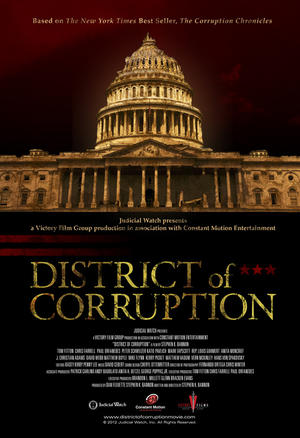 """Poster art for """"District of Corruption."""""""