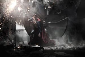 "Henry Cavill as Superman in ""Man of Steel."""