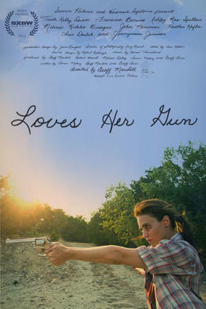 "Poster art for ""Loves Her Gun."""