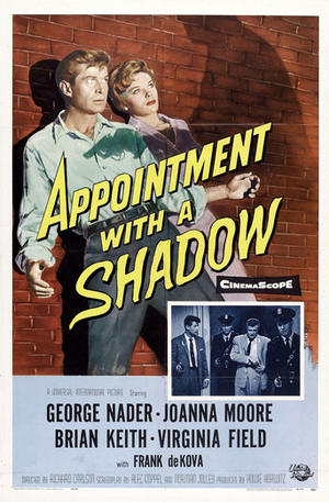 "Poster art for ""Appointment with a Shadow."""
