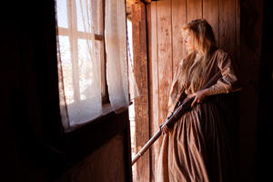 "Clare Bowen as Martha Kirkland in ""Dead Man's Burden."""
