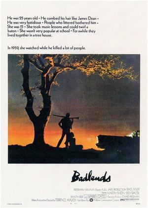 """Poster art for """"Badlands."""""""