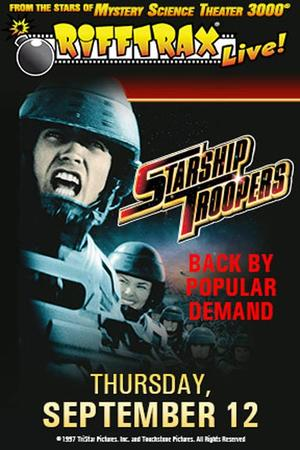 "Poster art for ""RiffTrax Live: Starship Troopers Encore."""