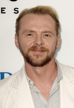 "Simon Pegg at the California premiere of ""The World's End."""