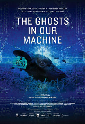 "Poster art for ""The Ghosts in Our Machine."""