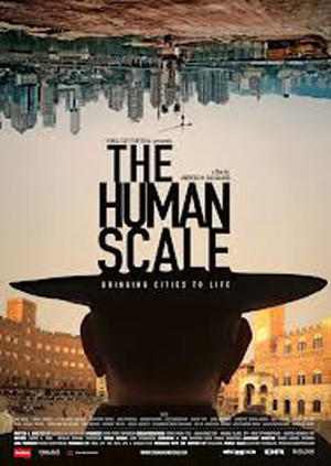 """Poster art for """"The Human Scale."""""""