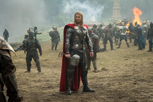 "Chris Hemsworth as Thor in ""Thor: The Dark World."""