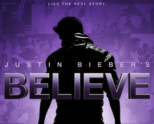 "Poster art for ""Justin Bieber: Believe."""