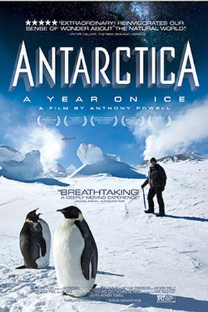 "Poster art for ""Antarctica: a Year on Ice."""