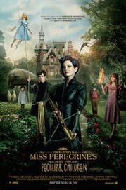 'Miss Peregrine's Home for Peculiar Children' from the web at 'http://images.fandango.com/r100.9/ImageRenderer/184/271/nox.jpg/165896/images/masterrepository/fandango/165896/missperegrineshomeforpeculiarchildrenposter.jpg'