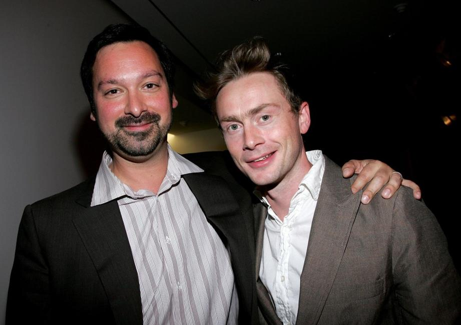 James Mangold and Musician Royston Langdon at the after party for