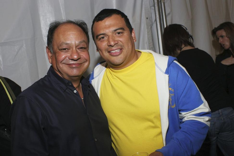 Cheech Marin and comedian Carlos Mencia at Spike TV's AutoRox.